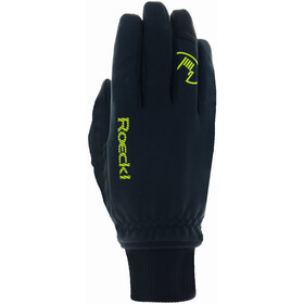 Roeckl Rax Gants Enfant, black/yellow